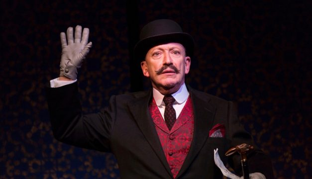 Allan Corduner in Murder on the Orient Express at McCarter Theatre Center. (Photo by T Charles Erickson)
