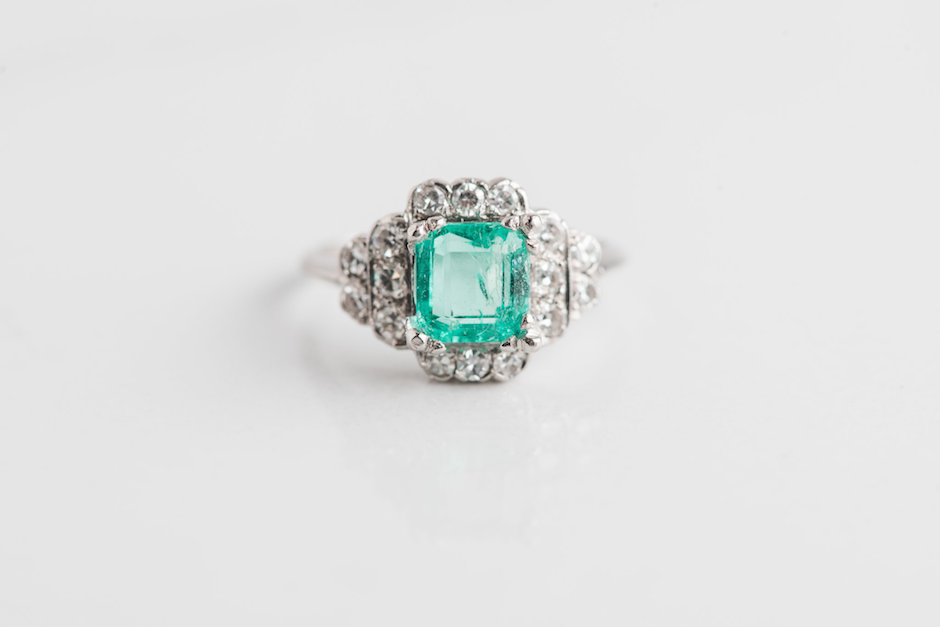 emerald diamond art deco antique engagement ring philadelphia jeweler (2)