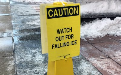"""Watch Out for Falling Ice"" sign"