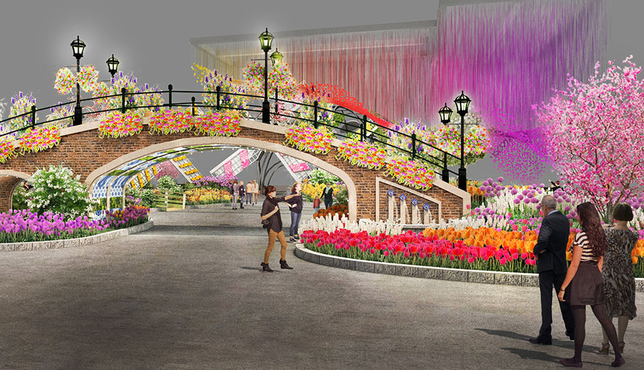 A rendering of what the Flower Show will look like.