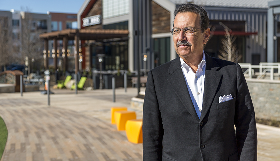 Dennis Maloomian, the visionary behind KOP's new downtown, in front of City Works restaurant | Photograph by Eric Prine