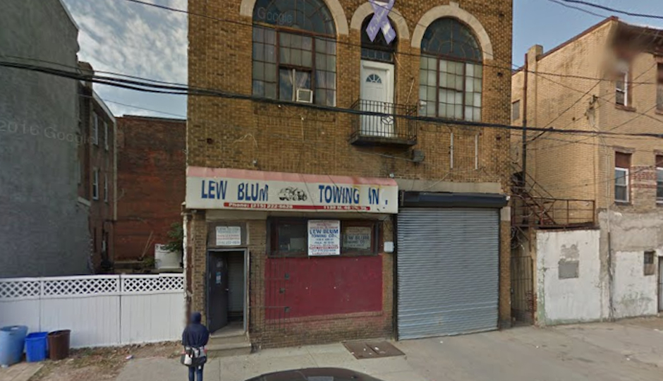Lew Blum Towing headquarters on 40th Street in Parkside. Lew Blum will tow you if you block his driveway, too. (Photo via Google Maps)
