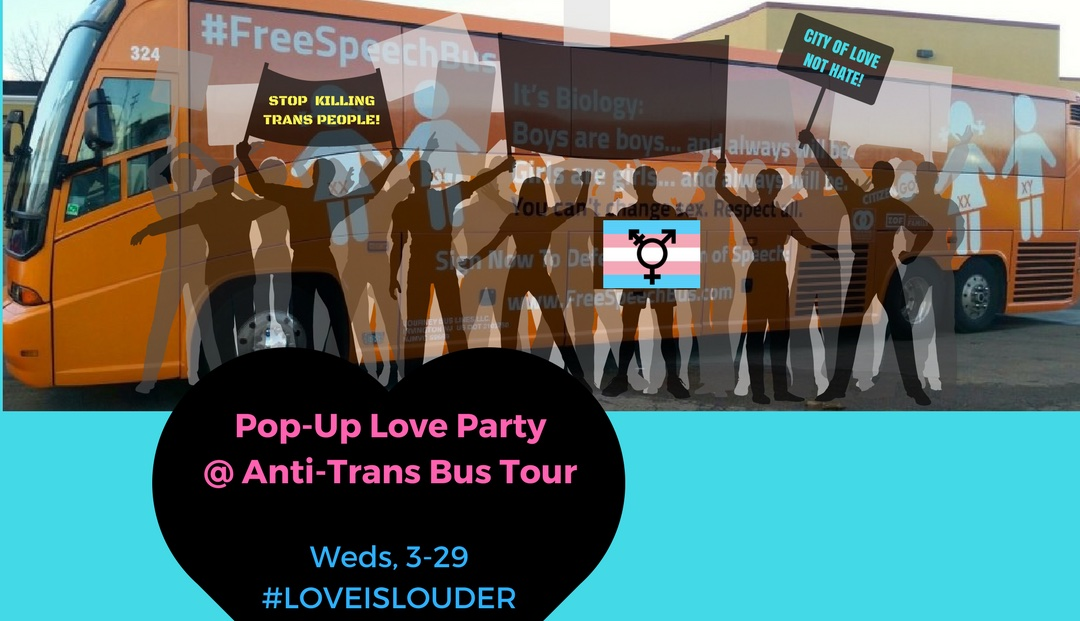 Philling Our Streets With Love at Hate Speech Bus Tour! is this Wednesday, March 29th.