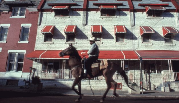 """""""A Ride by North Philly Rows,"""" 1993, by Ron Tarver. Photo courtesy of the artist"""