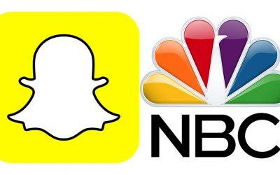 Snapchat and NBC logos