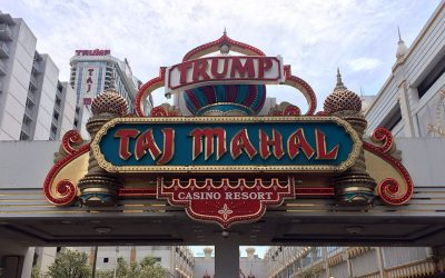 The Trump Taj Mahal entrance