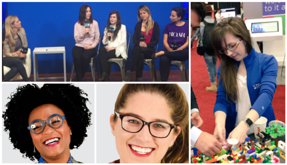 Clockwise from bottom left: Rakia Reynolds, Danielle Cohn, Tracey Welson-Rossman, Bethany Edwards, Gesche Haas, Yasmine Mustafa, Felicite Moorman, and Yuval Yarden.