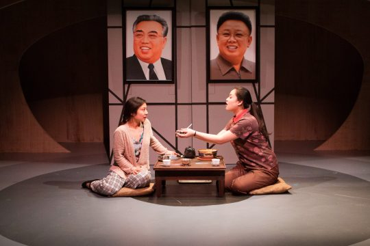 Bi Jean Ngo and Mina Kawahara in You for Me for You at InterAct. (Photo by Kathryn Raines / Plate 3)