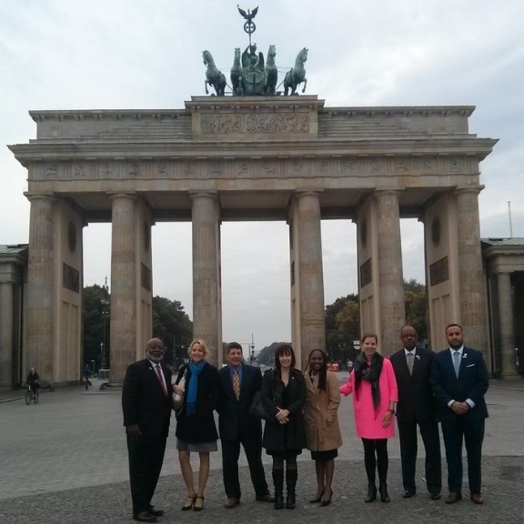 The Commerce Department at Brandenburg Gate in Berlin, Germany.
