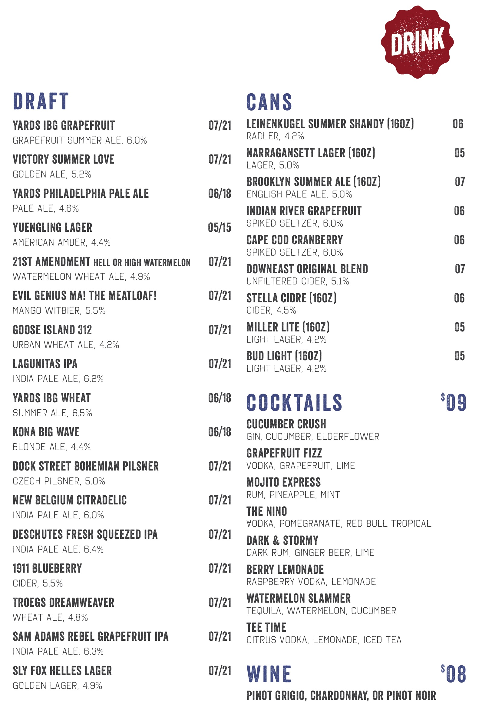IBG Drink Menu 04-19-17