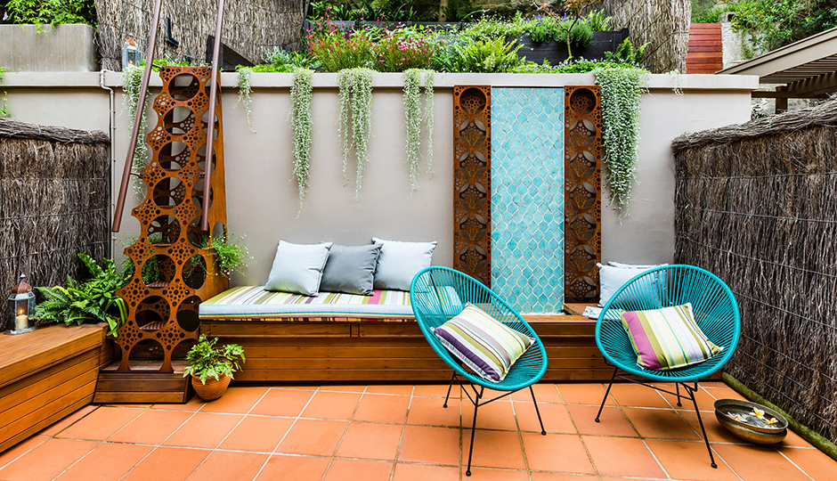 The Inspiration A Coolly Laid Back Patio By Australian Based Quercus Gardens