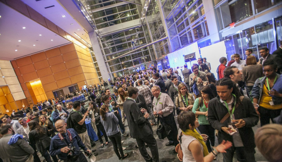 Philly Tech Week signature event at Comcast Center. Image via Visit Philadelphia.