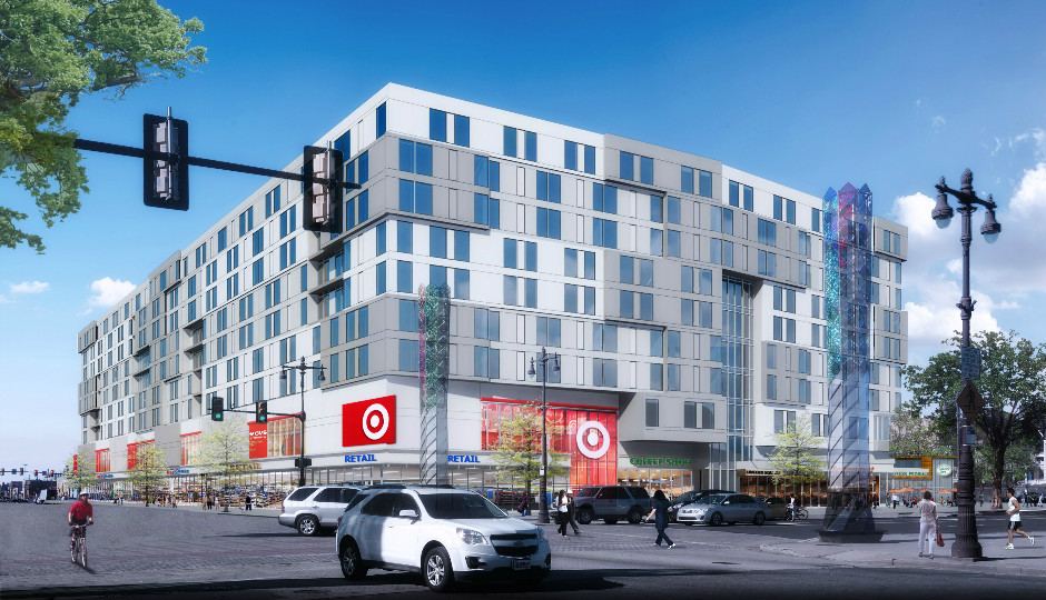 A rendering of the Target at Broad and Washington projected to open October 2018.