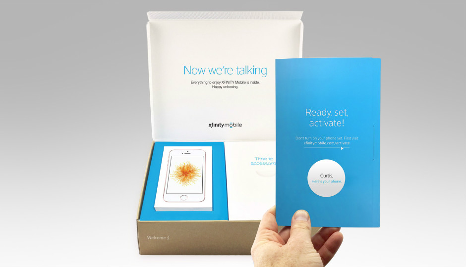 Comcast will ship phones in a personalized box. Image courtesy of Comcast.