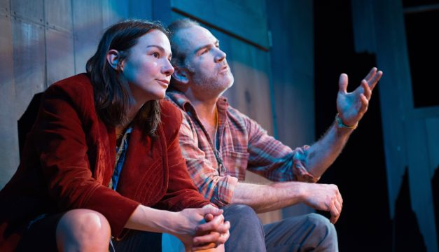 Sarah Gliko and Steven Rishard in The Arsonists at Azuka Theatre. (Photo by Johanna Austin)