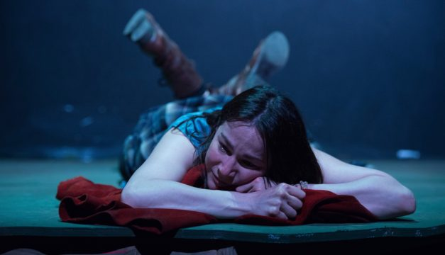 Sarah Gliko in The Arsonists at Azuka Theatre. (Photo by Johanna Austin)