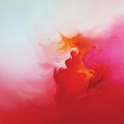 """Awakening,"" oil on canvas, 60' x 60', by Lynda Howitt"