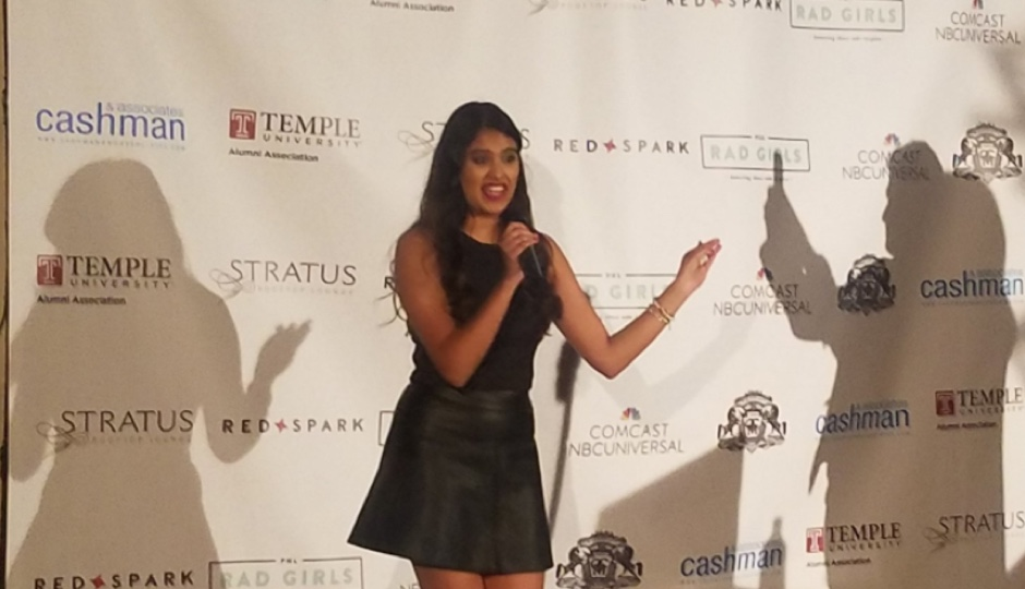 Neha Raman, founder of The Rungh System, takes home the Product of the Year Award. Photo by Roberto Torres.