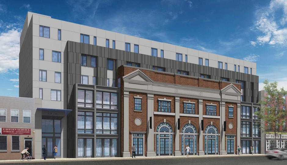 The South Street facade of the planned residential-retail development. | Rendering: JKRP Architects