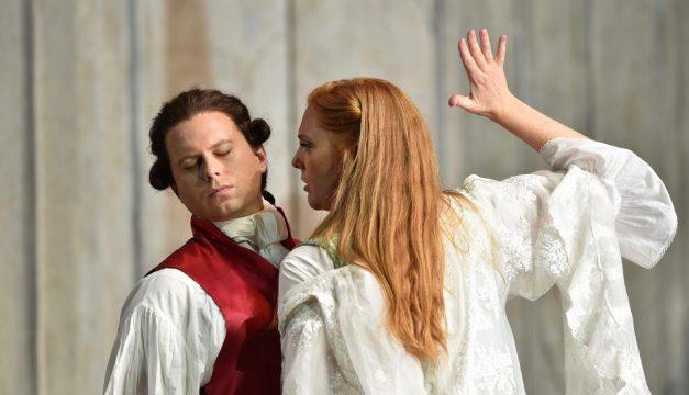 John Chest and Layla Claire in Le Nozze di Figaro at Opera Philadelphia. (Photo by Kelly & Massa)