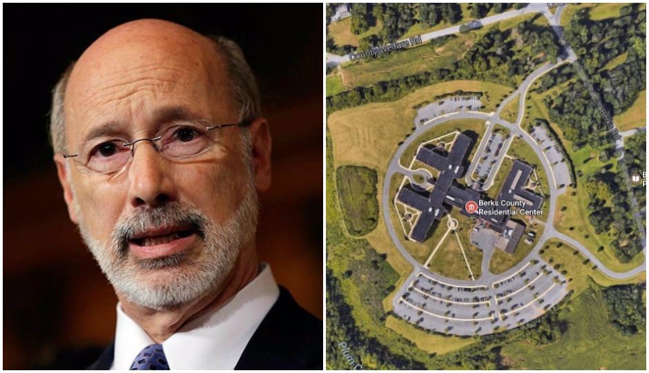 L: (AP Photo/Matt Rourke)   R: Berks County Residential Center via Google Maps