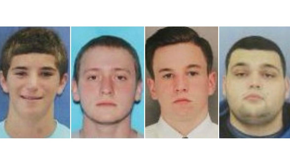 four men missing, bucks county