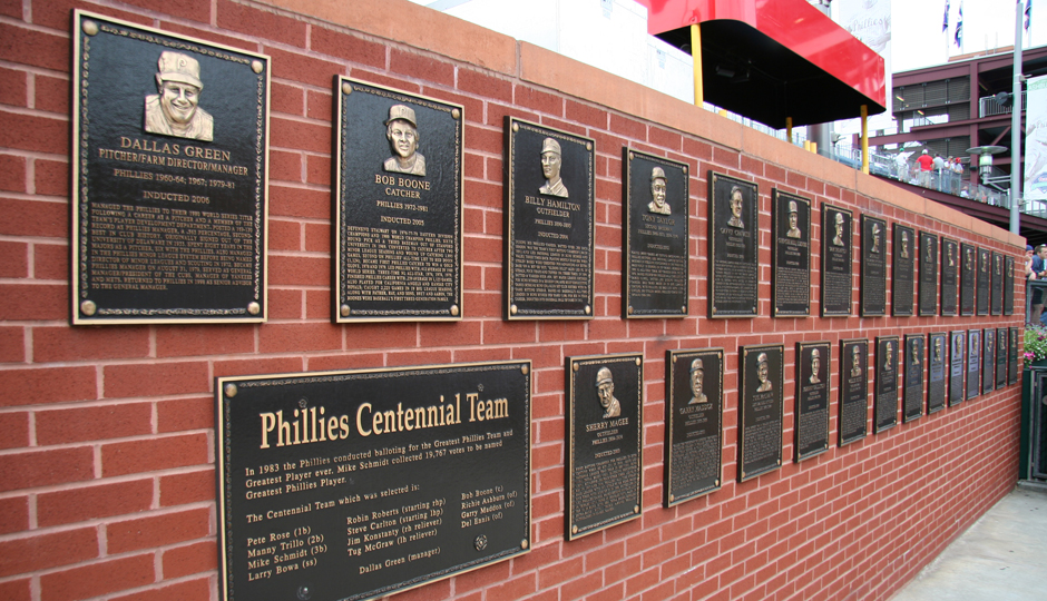 the phillies should cool it with the wall of fame
