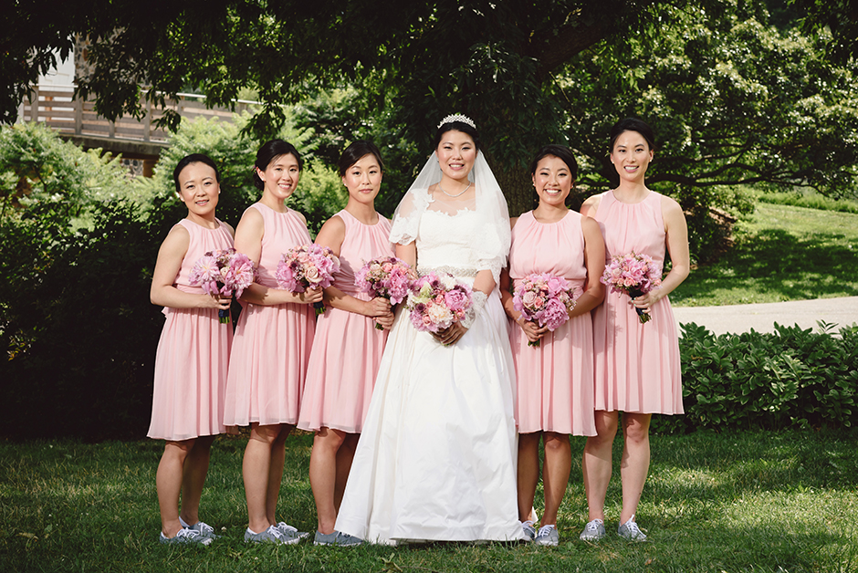 Bridesmaid Comfort And Ease Continued Into Their Formal Wedding Wear