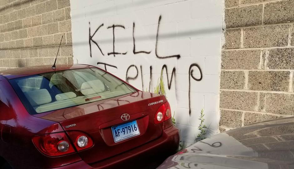 kill trump, graffiti, manayunk