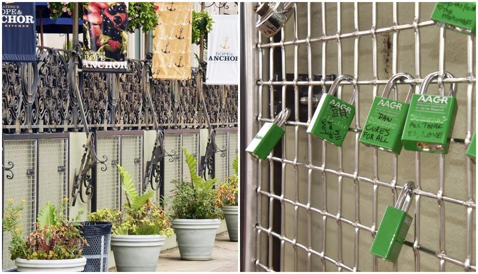 love lock fence