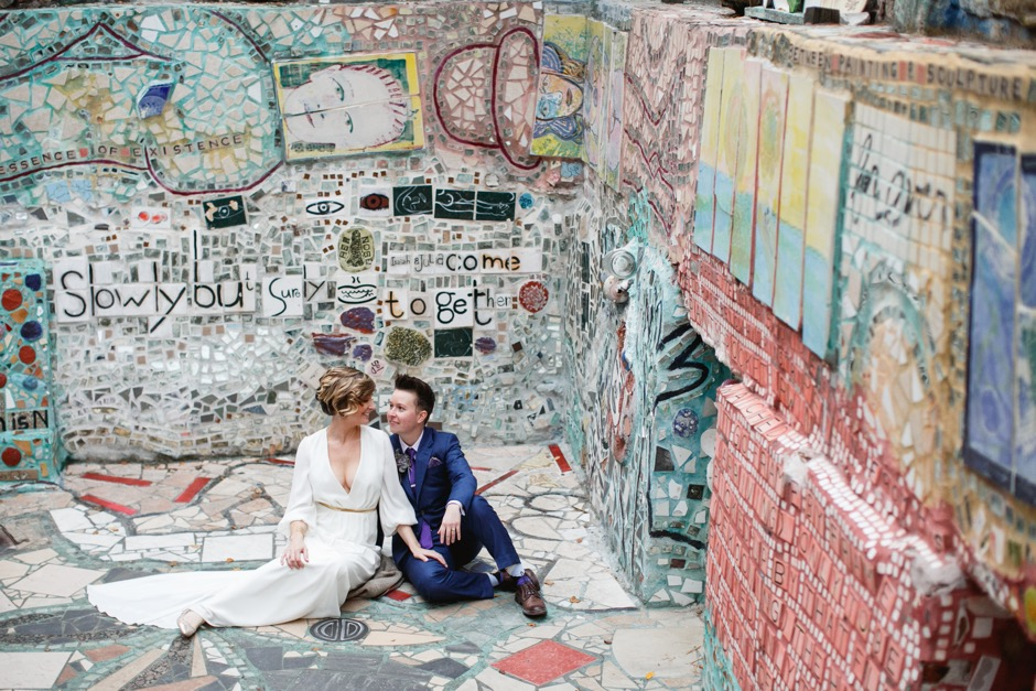 A Philadelphia Magic Gardens Wedding Catered By A Taco Truck