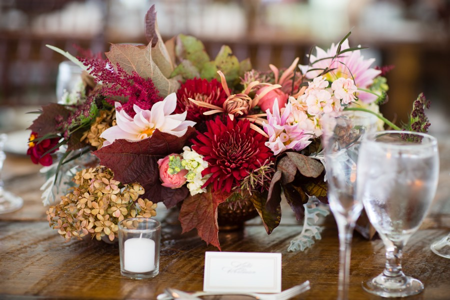 This Fall Wedding Seamlessly Blends Farmhouse And Black Tie Style