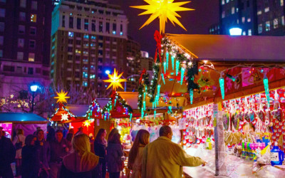 love park christmas village