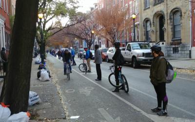human bike lane