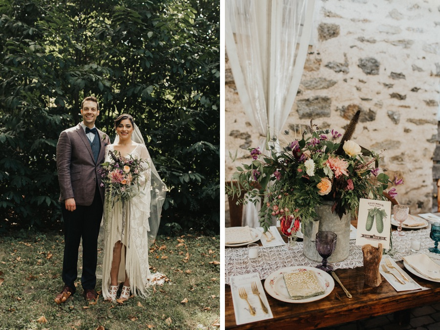 This boho bride wore fringe to her vegetable garden themed wedding this boho bride wore fringe to her vegetable garden themed wedding junglespirit Gallery