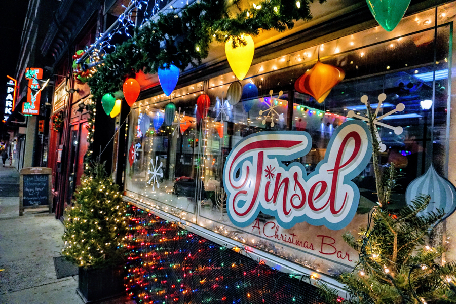 tinsel a christmas themed cocktail bar is popping up in midtown