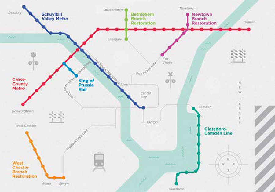 Philadelphia Pa Subway Map.Six Philly Area Rail Proposals That Never Came To Be But Still Could