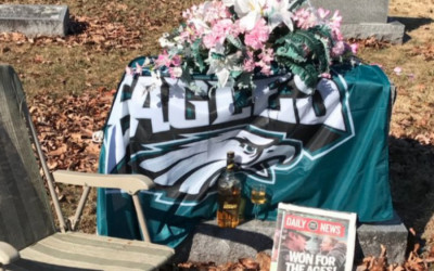 eagles fans, gravesites