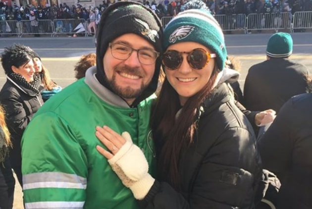 Only a True Eagles Superfan Would React To Getting Engaged Like This