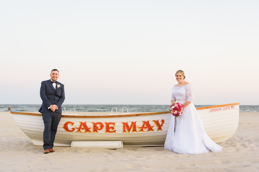 bfedae67c71f A Nautical Pink and Blue Wedding at Cape May on the Jersey Shore