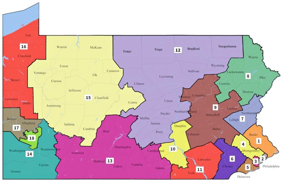 congressional map, democrats