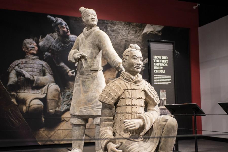 terracotta warriors, franklin institute