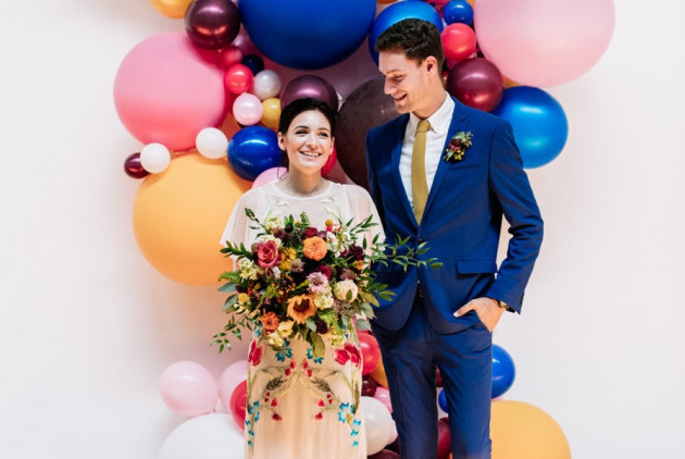 These Philly Wedding Pros Prove that Balloons Make Totally Chic Wedding Decor