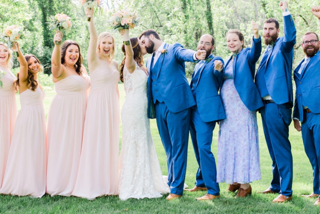 This Pastel Pink And Blue Barbecue Wedding Will Make You Smile