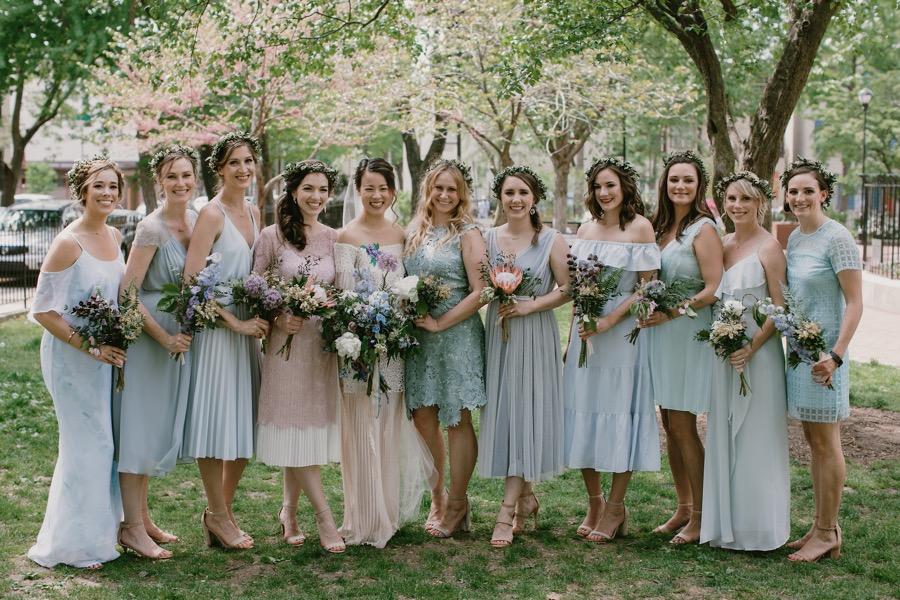 A Cherry Blossom Spring Wedding At Philadelphia S 23rd Street Armory