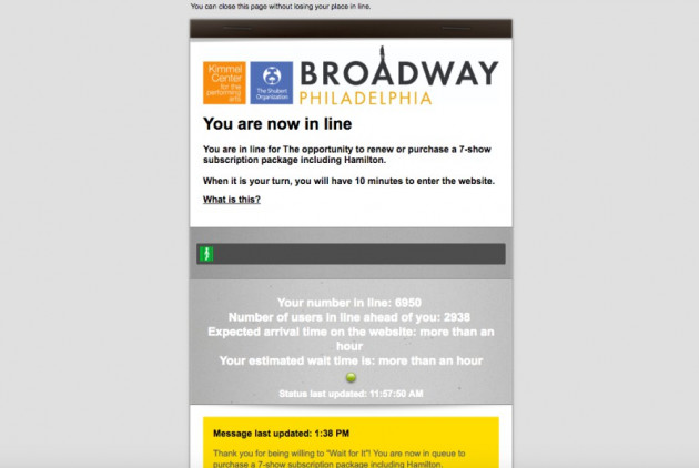 """Want to Buy Tickets for """"Hamilton"""" in Philly? Get """"In Line"""" … Online"""