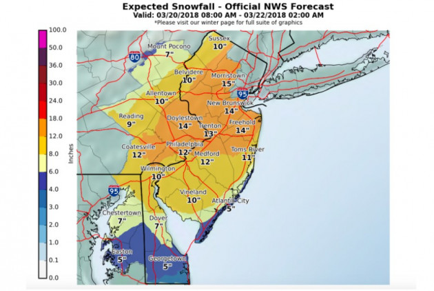 Here's the Latest on the Spring Nor'easter Headed Our Way