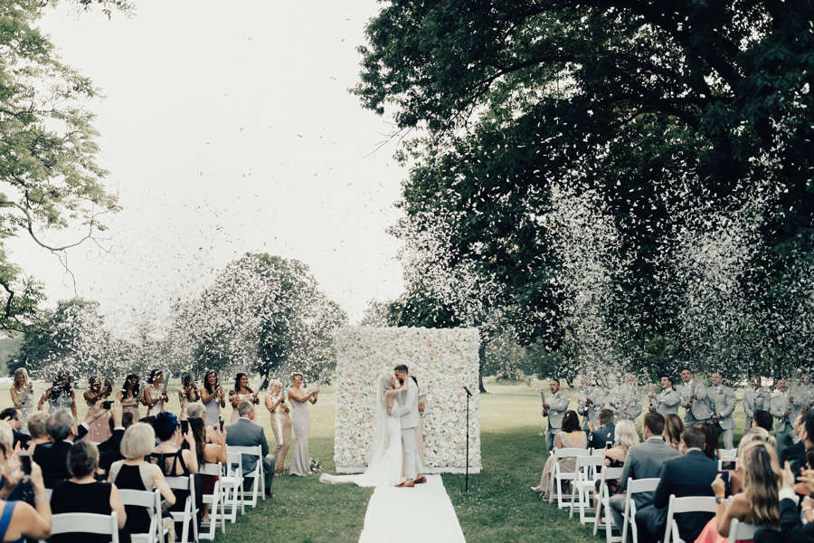 A Style Bloggers Philly Wedding Features A Confetti Cannon Surprise