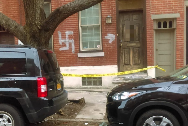 Somebody Painted a Swastika on This Northern Liberties House