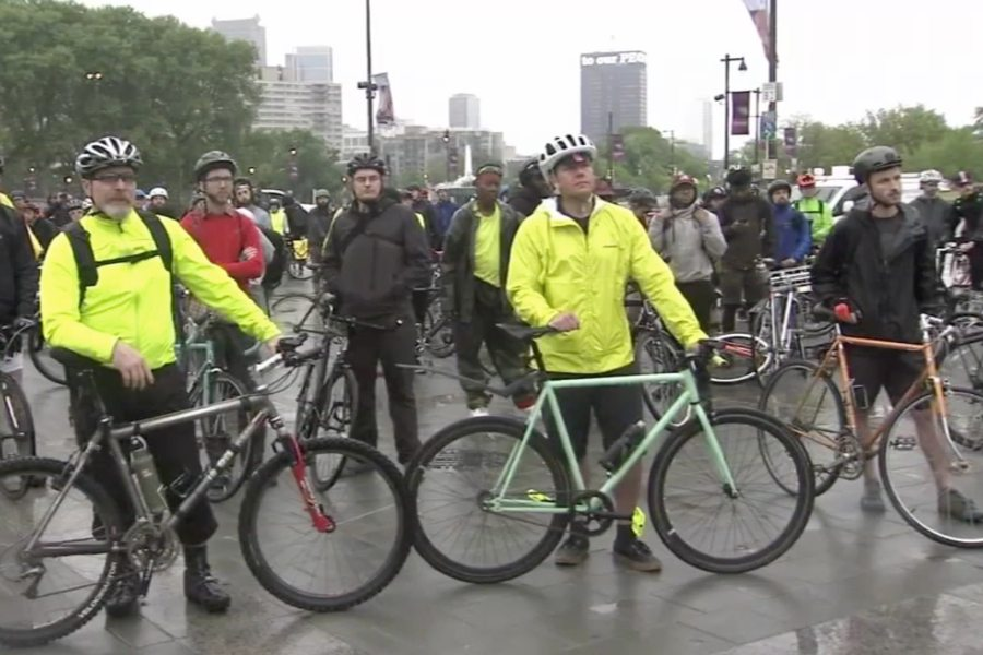 Dozens of Cadillac Cyclist Participate In Worldwide Ride Of Silence